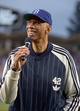 Apr 15, 2013; Los Angeles, CA, USA; Los Angeles Lakers former player Kareem Abdul-Jabbar attends the MLB game between the San Diego Padres and the Los Angeles Dodgers at Dodger Stadium. Mandatory Credit: Kirby Lee-USA TODAY Sports