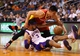 Apr. 15, 2013; Phoenix, AZ, USA: Phoenix Suns forward Jared Dudley (3) and Houston Rockets guard Jeremy Lin battle for a loose ball in the second quarter at the US Airways Center. Mandatory Credit: Mark J. Rebilas-USA TODAY Sports