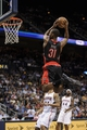 Apr 16, 2013; Atlanta, GA, USA; Toronto Raptors shooting guard Terrence Ross (31) goes up for a dunk against the Atlanta Hawks during the first half at Philips Arena. Mandatory Credit: Paul Abell-USA TODAY Sports