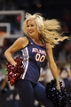 Apr 16, 2013; Atlanta, GA, USA; An Atlanta Hawks cheerleader performs during the second half against the Toronto Raptors at Philips Arena. The Raptors won 113-96. Mandatory Credit: Paul Abell-USA TODAY Sports