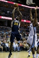 Apr 17, 2013; Memphis, TN, USA;  Utah Jazz power forward Paul Millsap (24) shoots the ball during the game against the Memphis Grizzlies at FedEx Forum.  Mandatory Credit: Spruce Derden   USA TODAY Sports
