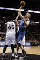Apr 17, 2013; San Antonio, TX, USA; Minnesota Timberwolves  forward Chase Budinger (10) shoots during the second half against the San Antonio Spurs at the AT&T Center. The Timberwolves won 108-95.  Mandatory Credit: Soobum Im-USA TODAY Sports