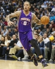 April 17, 2013; Denver, CO, USA; Phoenix Suns forward Michael Beasley (0) drives to the basket during the second half against the Denver Nuggets at the Pepsi Center.  The Nuggets won 118-98.  Mandatory Credit: Chris Humphreys-USA TODAY Sports