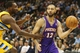 April 17, 2013; Denver, CO, USA; Phoenix Suns guard Kendall Marshall (12) drives to the basket during the second half against the Denver Nuggets at the Pepsi Center.  The Nuggets won 118-98.  Mandatory Credit: Chris Humphreys-USA TODAY Sports