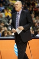 April 17, 2013; Denver, CO, USA; Denver Nuggets head coach George Karl on the sidelines during the first half against the Phoenix Suns at the Pepsi Center. Mandatory Credit: Chris Humphreys-USA TODAY Sports