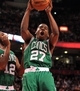 Apr 17, 2013; Toronto, Ontario, CAN; Boston Celtics shooting guard Jordan Crawford (27) grabs a rebound during the fourth quarter against the Toronto Raptors at the Air Canada Centre. The Raptors beat the Celtics 114-90. Mandatory Credit: Kevin Hoffman-USA TODAY Sports