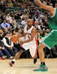 Apr 17, 2013; Toronto, Ontario, CAN; Toronto Raptors point guard John Lucas (5) brings the ball into the Boston Celtics zone during the fourth quarter at the Air Canada Centre. The Raptors beat the Celtics 114-90. Mandatory Credit: Kevin Hoffman-USA TODAY Sports