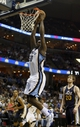 Apr 17, 2013; Memphis, TN, USA;  Memphis Grizzlies power forward Zach Randolph (50) goes up for a dunk during the game against the Utah Jazz at FedEx Forum.  The Memphis Grizzlies defeated the Utah Jazz 86-70.  Mandatory Credit: Spruce Derden   USA TODAY Sports