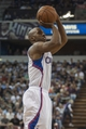 Apr 17, 2013; Sacramento, CA, USA; Los Angeles Clippers point guard Chauncey Billups (1) attempts a shot during the fourth quarter against the Sacramento Kings at the Sleep Train Arena. The Los Angeles Clippers defeated the Sacramento Kings 112-108. Mandatory Credit: Ed Szczepanski-USA TODAY Sports