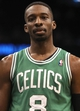 Apr 13, 2013; Orlando, FL, USA; Boston Celtics power forward Jeff Green (8) against the Orlando Magic during the second quarter at the Amway Center. Mandatory Credit: Kim Klement-USA TODAY Sports