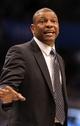 Apr 13, 2013; Orlando, FL, USA; Boston Celtics head coach Doc Rivers against the Orlando Magic during the second half at the Amway Center. Boston Celtics defeated the Orlando Magic 120-88. Mandatory Credit: Kim Klement-USA TODAY Sports
