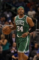 Apr 13, 2013; Orlando, FL, USA; Boston Celtics small forward Paul Pierce (34) against the Orlando Magic during the second quarter at the Amway Center. Mandatory Credit: Kim Klement-USA TODAY Sports