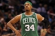 Apr 13, 2013; Orlando, FL, USA; Boston Celtics small forward Paul Pierce (34) reatcs against the Orlando Magic during the second half at the Amway Center. Boston Celtics defeated the Orlando Magic 120-88. Mandatory Credit: Kim Klement-USA TODAY Sports