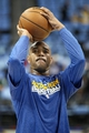 Apr 23, 2013; Denver, CO, USA; Golden State Warriors point guard Jarrett Jack (2) warms up before the start of the game against the Denver Nuggets in game two in the first round of the 2013 NBA playoffs at the Pepsi Center. Mandatory Credit: Isaiah J. Downing-USA TODAY Sports