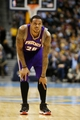 April 17, 2013; Denver, CO, USA; Phoenix Suns guard Shannon Brown (26) during the second half against the Denver Nuggets at the Pepsi Center.  The Nuggets won 118-98.  Mandatory Credit: Chris Humphreys-USA TODAY Sports
