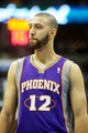 April 17, 2013; Denver, CO, USA; Phoenix Suns guard Kendall Marshall (12) during the second half against the Denver Nuggets at the Pepsi Center.  The Nuggets won 118-98.  Mandatory Credit: Chris Humphreys-USA TODAY Sports