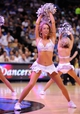Apr 15, 2013; Dallas, TX, USA; A Dallas Mavericks dancer performs during a timeout in the game between the Mavericks and the Memphis Grizzlies at the American Airlines Center. Mandatory Credit: Jerome Miron-USA TODAY Sports