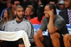 April 26, 2013; Los Angeles, CA, USA; San Antonio Spurs power forward Tim Duncan (21) speaks with small forward Kawhi Leonard (2) during the second half in game three of the first round of the 2013 NBA playoffs at Staples Center. Mandatory Credit: Gary A. Vasquez-USA TODAY Sports