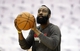 Apr 27, 2013; Houston, TX, USA; Houston Rockets shooting guard James Harden (13) warms up before game three against the Oklahoma City Thunder in the first round of the 2013 NBA playoffs at the Toyota Center. Mandatory Credit: Troy Taormina-USA TODAY Sports