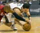 Apr 28, 2013; Milwaukee, WI, USA; Milwaukee Bucks guard J.J. Redick (5) and Miami Heat guard Ray Allen (34) battle for a loose ball during the fourth quarter of game four of the first round of the 2013 NBA playoffs at the BMO Harris Bradley Center.  Miami won 88-77.  Mandatory Credit: Jeff Hanisch-USA TODAY Sports
