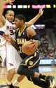 Apr 29, 2013; Atlanta, GA, USA; Indian Pacers forward Paul George (24) drives to the basket against Atlanta Hawks guard Delvin Harris (34) in game four of the first round of the 2013 NBA playoffs at Philips Arena. Mandatory Credit: Marvin Gentry-USA TODAY Sports