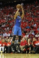 Apr 29, 2013; Houston, TX, USA; Oklahoma City Thunder shooting guard Thabo Sefolosha (2) takes  a shot against the Houston Rockets in the third quarter in game four of the first round of the 2013 NBA playoffs at the Toyota Center. The Rockets defeated the Thunder 105-103. Mandatory Credit: Brett Davis-USA TODAY Sports