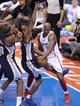 Apr 30, 2013; Los Angeles, CA, USA;  Los Angeles Clippers power forward Lamar Odom (7) and Memphis Grizzlies shooting guard Tony Allen (9) battle for the ball in the first half of game five of the first round of the 2013 NBA Playoffs at the Staples Center. Mandatory Credit: Jayne Kamin-Oncea-USA TODAY Sports