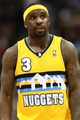 Apr 23, 2013; Denver, CO, USA; Denver Nuggets point guard Ty Lawson (3) during a stoppage of play in the fourth quarter against the Golden State Warriors during game two in the first round of the 2013 NBA playoffs at the Pepsi Center. The Warriors won 131-117. Mandatory Credit: Isaiah J. Downing-USA TODAY Sports