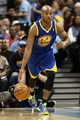 Apr 23, 2013; Denver, CO, USA; Golden State Warriors point guard Jarrett Jack (2) controls the ball in the second quarter against the Denver Nuggets during game two in the first round of the 2013 NBA playoffs at the Pepsi Center. The Warriors won 131-117. Mandatory Credit: Isaiah J. Downing-USA TODAY Sports