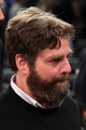 May 1, 2013; New York, NY, USA; Movie star Zach Galifianakis talks with fans following game five of the first round of the 2013 NBA Playoffs between the New York Knicks and the Boston Celtics at Madison Square Garden. Mandatory Credit: Brad Penner-USA TODAY Sports