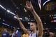 May 2, 2013; Oakland, CA, USA; Golden State Warriors point guard Stephen Curry (30) celebrates after game six of the first round of the 2013 NBA Playoffs against the Denver Nuggets at Oracle Arena. The Warriors defeated the Nuggets 92-88. Mandatory Credit: Kyle Terada-USA TODAY Sports