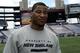 May 3, 2013; Foxboro, MA USA; New England Patriots rookie Michael Buchanan speaks to the media during rookie minicamp at Gillette Stadium. Mandatory Credit: Bob DeChiara-USA TODAY Sports