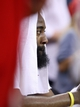 May 3, 2013; Houston, TX, USA; Houston Rockets shooting guard James Harden (13) sits on the bench during the fourth quarter in game six of the first round of the 2013 NBA Playoffs against the Oklahoma City Thunder at the Toyota Center. Mandatory Credit: Troy Taormina-USA TODAY Sports