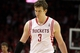 May 3, 2013; Houston, TX, USA; Houston Rockets center Omer Asik (3) reacts after a play during the fourth quarter against the Oklahoma City Thunder in game six of the first round of the 2013 NBA Playoffs at the Toyota Center. Mandatory Credit: Troy Taormina-USA TODAY Sports