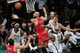 May 4, 2013; Brooklyn, NY, USA; Chicago Bulls power forward Carlos Boozer (5) loses control of a rebound Brooklyn Nets during the second half in game seven of the first round of the 2013 NBA Playoffs at the Barclays Center. The Bulls won 99-93. Mandatory Credit: Joe Camporeale-USA TODAY Sports
