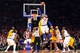 May 5, 2013; New York, NY, USA; New York Knicks small forward Carmelo Anthony (7) wins a jump ball over Indiana Pacers center Roy Hibbert (55) during the second half of game one of the second round of the NBA Playoffs. Pacers won the game 102-95. Mandatory Credit: Joe Camporeale-USA TODAY Sports