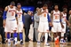 May 5, 2013; New York, NY, USA; The New York Knicks look on during the final minutes of the second half of game one of the second round of the NBA Playoffs against the Indiana Pacers. Pacers won the game 102-95. Mandatory Credit: Joe Camporeale-USA TODAY Sports