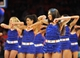 May 5, 2013; New York, NY, USA; The Knicks City dancers perform during the second half of game one of the second round of the NBA Playoffs between the New York Knicks and Indiana Pacers. Pacers won the game 102-95. Mandatory Credit: Joe Camporeale-USA TODAY Sports