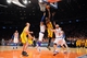 May 5, 2013; New York, NY, USA; Indiana Pacers center Roy Hibbert (55) puts up a layup against the New York Knicks during the second half of game one of the second round of the NBA Playoffs. Pacers won the game 102-95. Mandatory Credit: Joe Camporeale-USA TODAY Sports
