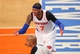 May 5, 2013; New York, NY, USA; New York Knicks forward Carmelo Anthony (7) reacts to a call by the referee during the second half of game one of the second round of the NBA Playoffs against the Indiana Pacers at Madison Square Garden. Mandatory Credit: Danny Wild-USA TODAY Sports