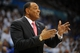 May 7, 2013; Oklahoma City, OK, USA; Memphis Grizzlies head coach Lionel Hollins reacts to a play in action against the Oklahoma City Thunder during the first half in game two of the second round of the 2013 NBA Playoffs at Chesapeake Energy Arena. Mandatory Credit: Mark D. Smith-USA TODAY Sports