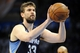 May 7, 2013; Oklahoma City, OK, USA; Memphis Grizzlies center Marc Gasol (33) attempts a shot against the Oklahoma City Thunder during the first half in game two of the second round of the 2013 NBA Playoffs at Chesapeake Energy Arena. Mandatory Credit: Mark D. Smith-USA TODAY Sports