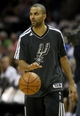 May 19, 2013; San Antonio, TX, USA; San Antonio Spurs point guard Tony Parker (9) warms up before game one of the Western Conference finals of the 2013 NBA Playoffs against the Memphis Grizzlies at AT&T Center. Mandatory Credit: Troy Taormina-USA TODAY Sports