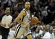 May 19, 2013; San Antonio, TX, USA; San Antonio Spurs point guard Tony Parker (9) brings the ball up the court during the first quarter against the Memphis Grizzlies  in game one of the Western Conference finals of the 2013 NBA Playoffs at AT&T Center. Mandatory Credit: Troy Taormina-USA TODAY Sports