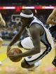 May 25, 2013; Memphis, TN, USA; Memphis Grizzlies power forward Zach Randolph (50) dives after the loose ball in game three of the Western Conference finals of the 2013 NBA Playoffs against the San Antonio Spurs at FedEx Forum. San Antonio Spurs defeat the Memphis Grizzlies 104-93, and lead the series 3-0.  Mandatory Credit: Spruce Derden-USA TODAY Sports