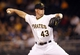 Jun 13, 2013; Pittsburgh, PA, USA; Pittsburgh Pirates relief pitcher Ryan Reid (43) delivers a pitch against the San Francisco Giants during the eighth inning at PNC Park. The San Francisco Giants won 10-0. Mandatory Credit: Charles LeClaire-USA TODAY Sports