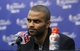 Jun 13, 2013; San Antonio, TX, USA; San Antonio Spurs point guard Tony Parker speaks at a postgame press conference following game four against the Miami Heat in the 2013 NBA Finals at the AT&T Center. The Heat defeated the Spurs 109-93. Mandatory Credit: Soobum Im-USA TODAY Sports