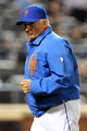 Jun 14, 2013; New York, NY, USA; New York Mets manager Terry Collins (10) jogs off the field after making a pitching change during the sixth inning of a game at Citi Field. Mandatory Credit: Brad Penner-USA TODAY Sports