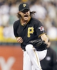 Jun 14, 2013; Pittsburgh, PA, USA; Pittsburgh Pirates relief pitcher Jason Grilli (39) reacts after the final out against the Los Angeles Dodgers during the ninth inning at PNC Park. The Pittsburgh Pirates won 3-0. Mandatory Credit: Charles LeClaire-USA TODAY Sports