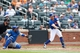 Jun 16, 2013; Flushing, NY,USA;  New York Mets third baseman David Wright (5) grounds out to third during the fourth inning against the Chicago Cubs at Citi Field.  Mandatory Credit: Anthony Gruppuso-USA TODAY Sports